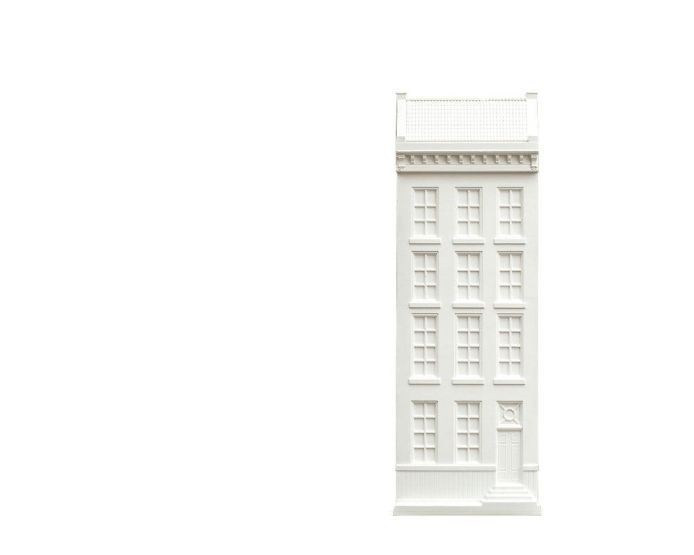 Architectural plaster facade Amsterdam house model Unique wall art by Atelier Article - Design Atelier Article