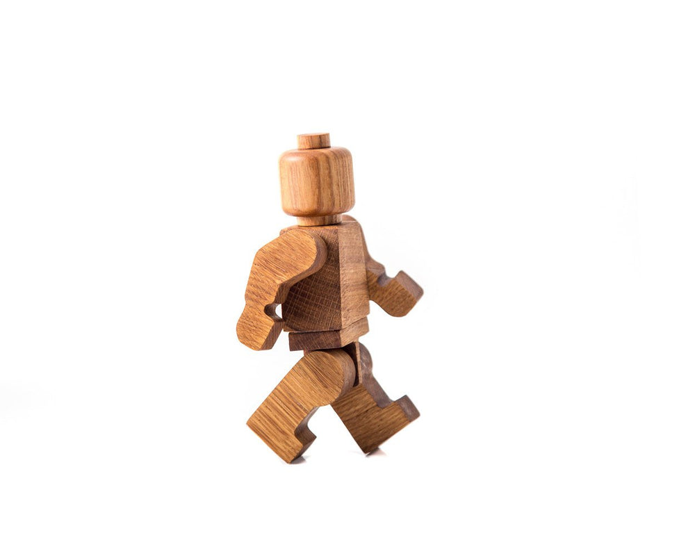 Wooden Lego man // Shelf decor inspired by popular character