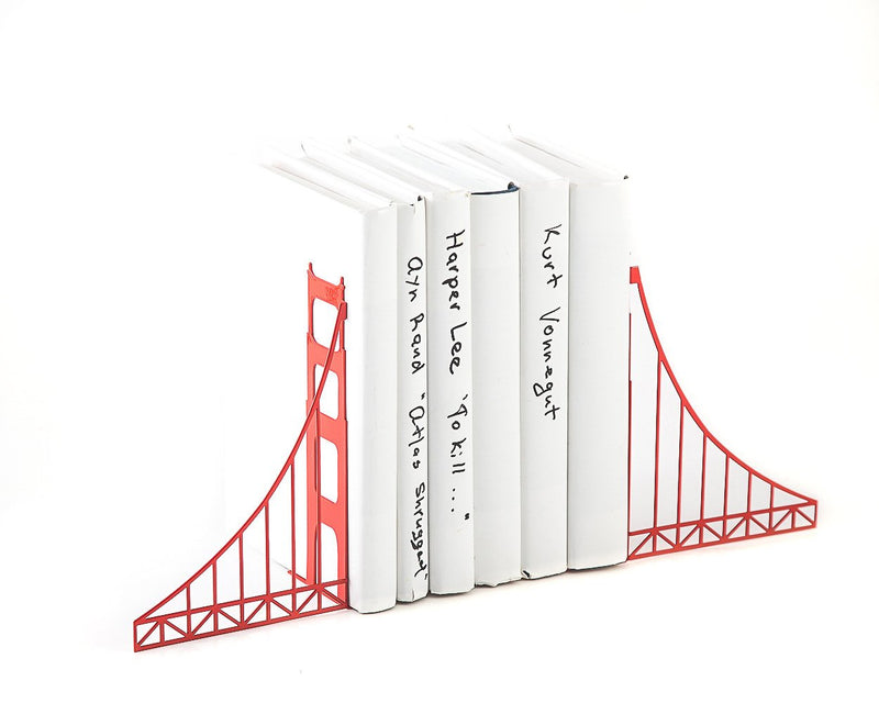 Metal Bookends Golden Gate Bridge - Design Atelier Article