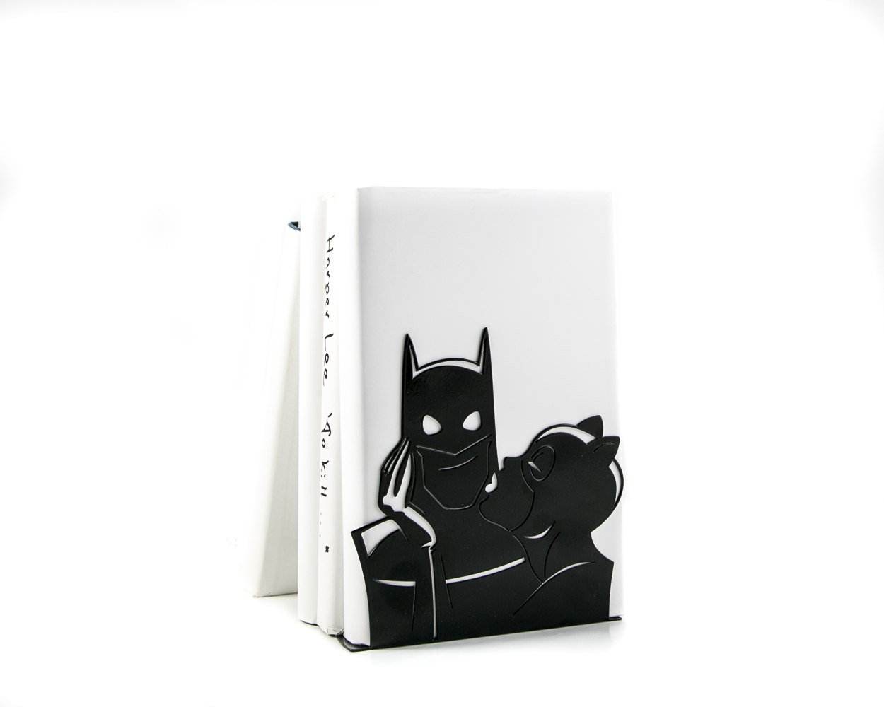 One Decorative  bookend // Batman and Catwoman kissing // DC comics fans // FREE SHIPPING // perfect housewarming gift // - Design Atelier Article