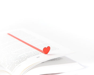 Romantic Book Bookmark Red HEART // Present for book lover // unique gift packaging ready to give // Free shipping worldwide
