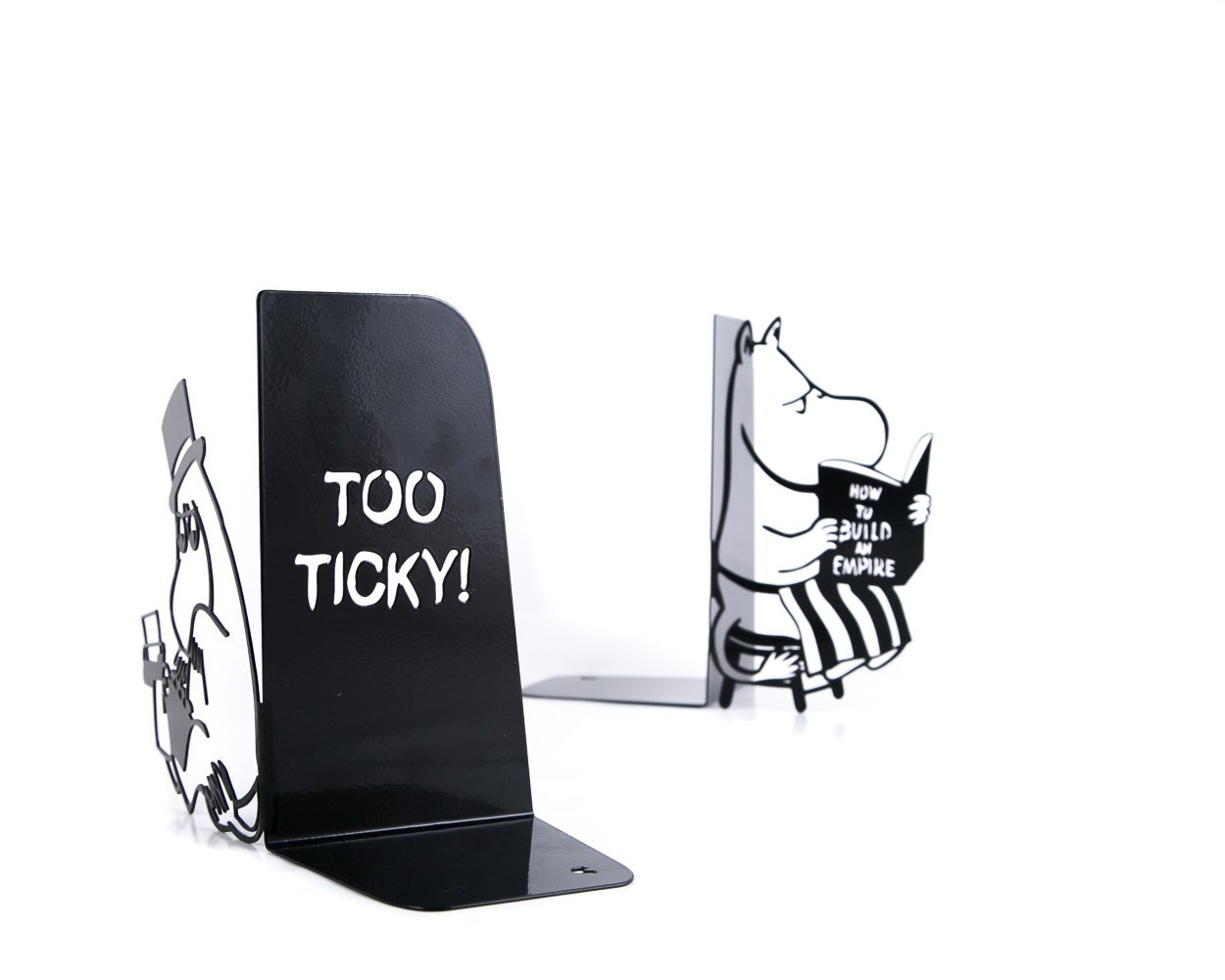 Nursery perfect bookends - Moomintroll // The Moomins - artistic decor for nursery // functional shelf decor for kid's room // FREE SHIPPING - Design Atelier Article
