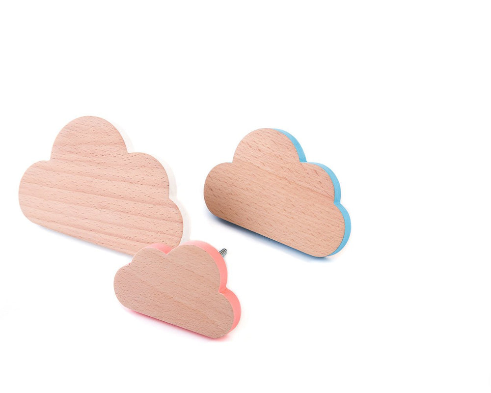Wall hooks for Nursery Clouds Set of Three