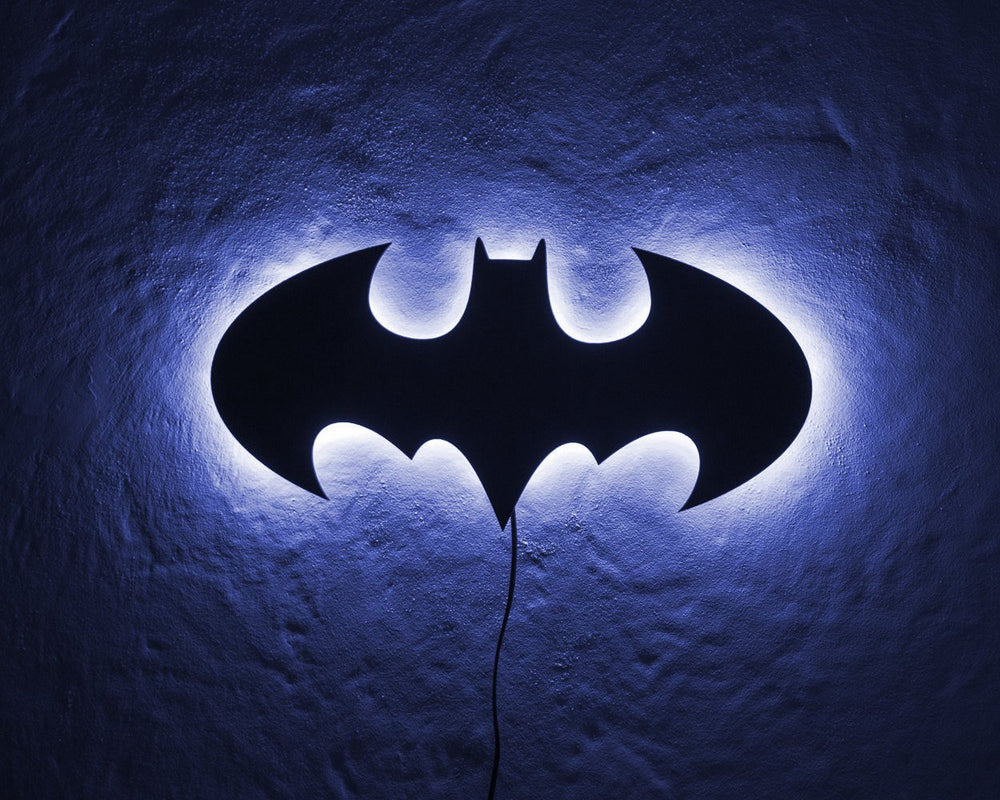 Batman LED Sign BLUE // Wall Art