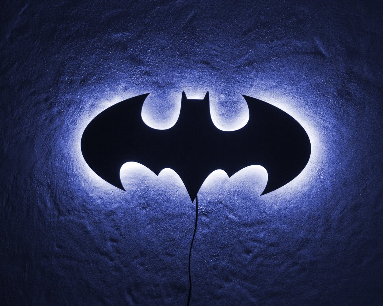 Man cave wall light Batman neon style LED Sign // Wall Art // Universal current adapter // Free shipping - Design Atelier Article