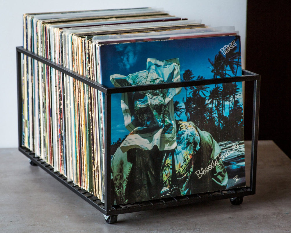 LP storage album crate  // container holds up to 100 records - Design Atelier Article