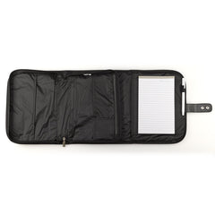 Black Polyester Tri-fold Organizer Bible Cover