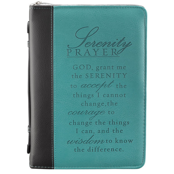 Serenity Prayer in Two-Tone Aqua Bible Cover