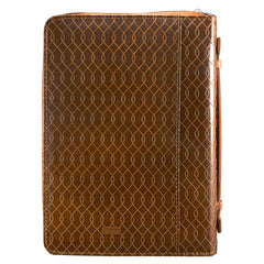 I Know the Plans Two-tone Brown Bible Cover -  Jeremiah 29:11