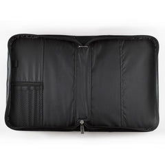 Faith Black Faux Leather Classic Bible Cover