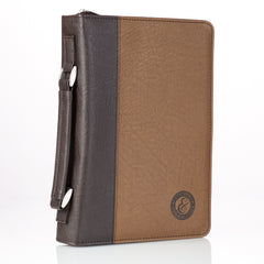 Strong & Courageous Two-Tone Bible Cover - Joshua 1:9