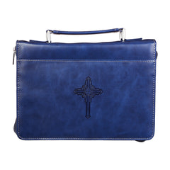 The Plans Dark Blue Faux Leather Classic Bible Cover - Jeremiah 29:11