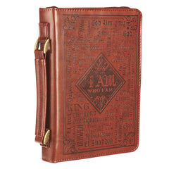Names of God  Brown Faux Leather Bible Cover