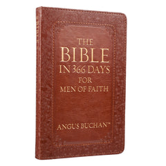 The Bible in 366 Days for Men of Faith Brown Faux Leather Devotional