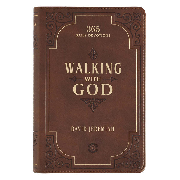 Walking With God Brown Faux Leather Devotional