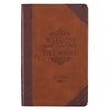 Wisdom from the Word for Men Brown Quarter-bound Faux Leather Gift Book