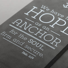 Hope is an Anchor Pewter Flexcover Journal - Hebrews 6:19