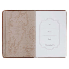 Anchor for the Soul Brown Faux Leather Classic Journal - Hebrews 6:19