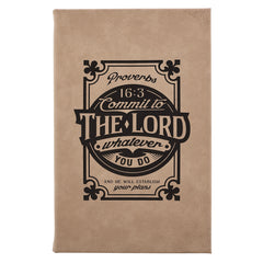 Commit to the Lord Laser Engraved Hardcover Journal - Proverbs 16:3