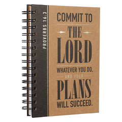 Commit to the Lord Large Hardcover Wirebound  - Proverbs 16:3