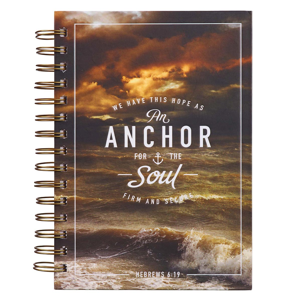 Anchor For The Soul Large Wirebound Journal - Hebrews 6:19