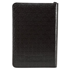 Black Faux Leather Zippered Pocket Bible - KJV