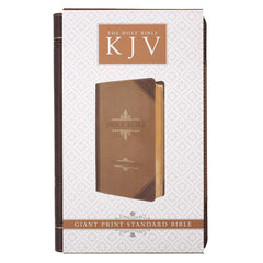 Brown Two-tone Quarter-bound Faux Leather Giant Print King James Version Bible