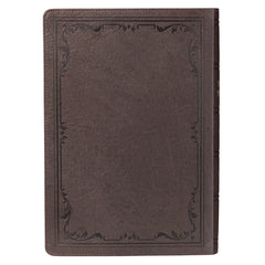 Dark Brown Faux Leather Super Giant Print King James Version Bible