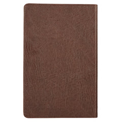 Matte Brown Faux Leather King James Version Deluxe Gift Bible
