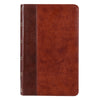 Brown Half-bound Faux Leather Giant Print King James Version Bible