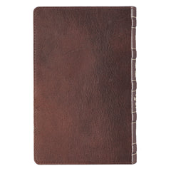 Dark Brown Premium Leather Giant Print Bible  with Thumb Index - KJV