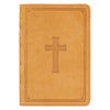 Tan Premium Leather Large Print Compact King James Version Bible