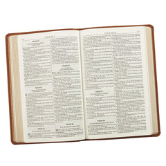 Saddle Tan Faux Leather Gift Edition King James Version Bible