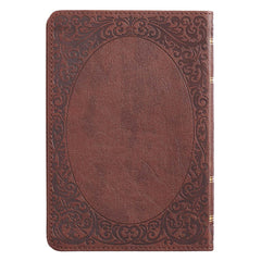 Medium Brown Faux Leather Compact King James Version Bible