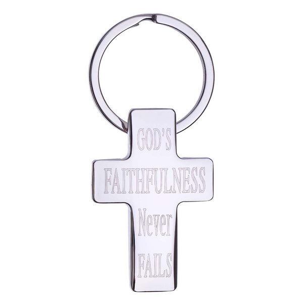 God's Faithfulness Metal Keyring