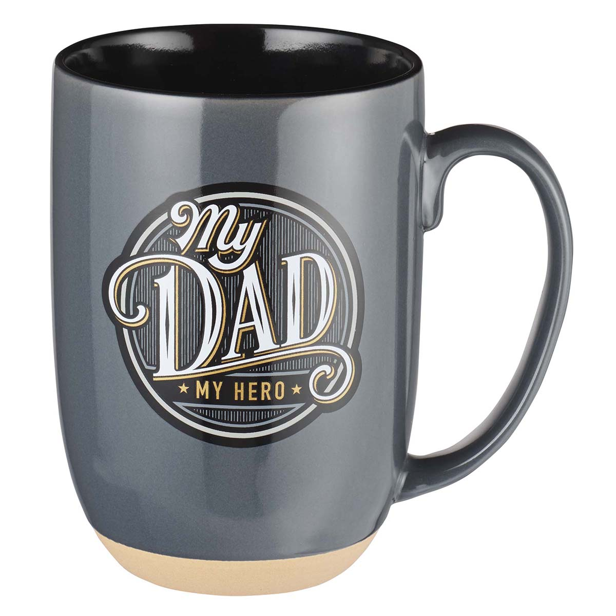 My Dad, My Hero Ceramic Mug with Clay Dipped Base - Proverbs 14:26