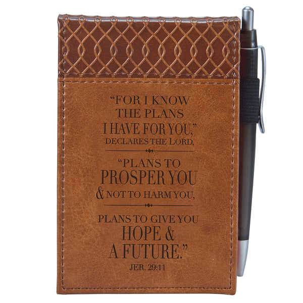 Jeremiah 29:11 Two-tone Pocket Notepad w/Pen