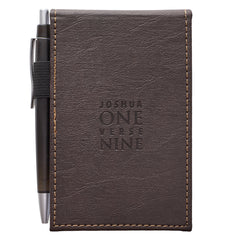 Strong & Courageous LuxLeather Pocket Notepad