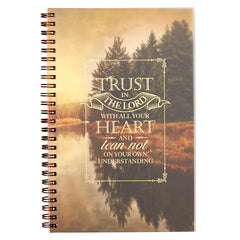 Trust in the Lord with All Your Heart Wirebound Notebook - Proverbs 3:5
