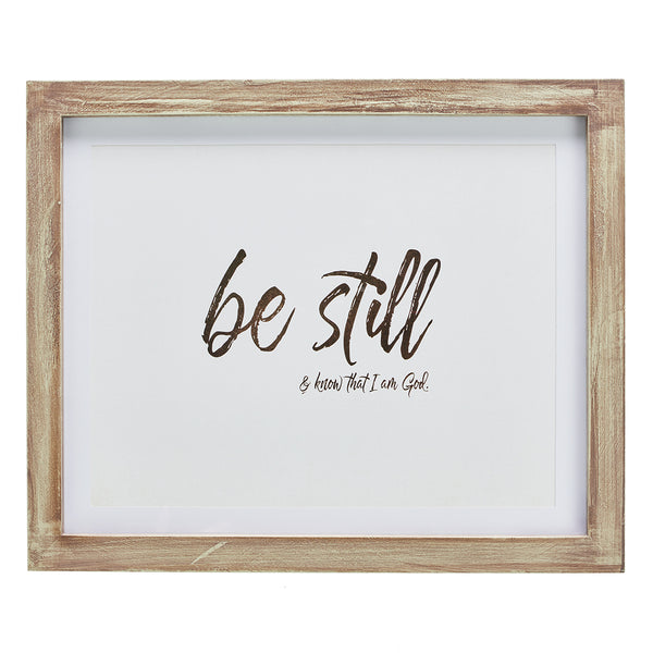 Be Still and Know That I am God - Psalm 46:10 Wall Plaque