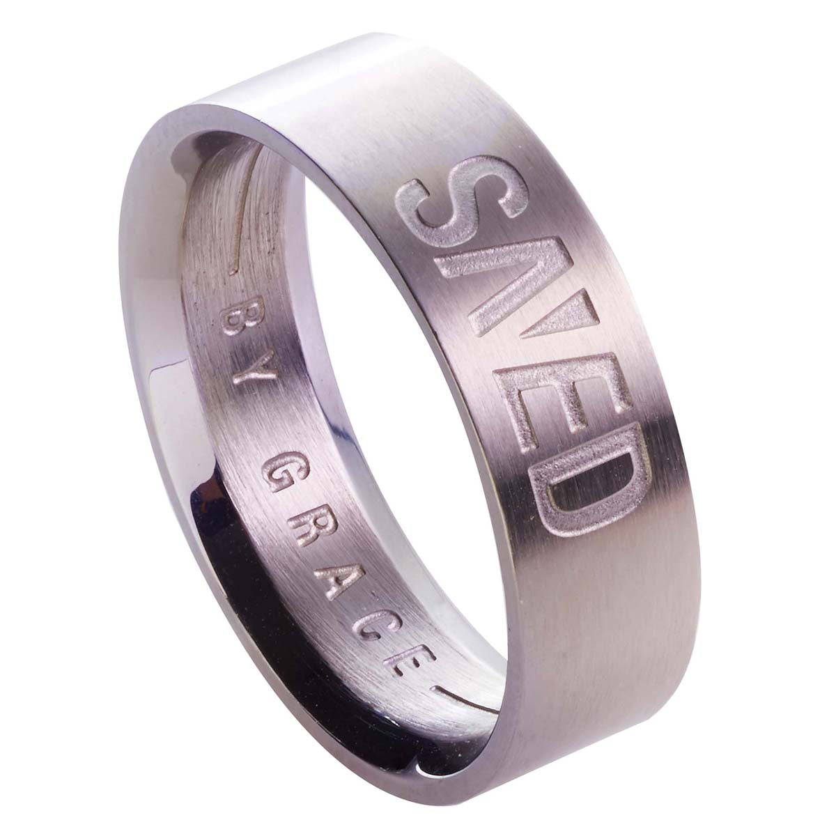 Save by Grace - Ephesians 2:8 Men's Ring