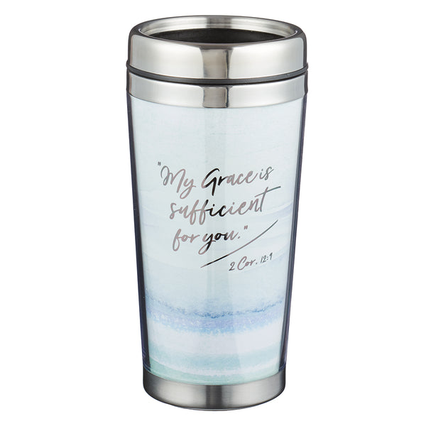 My Grace is Sufficient Polymer Travel Mug - 2 Corinthians 12:9
