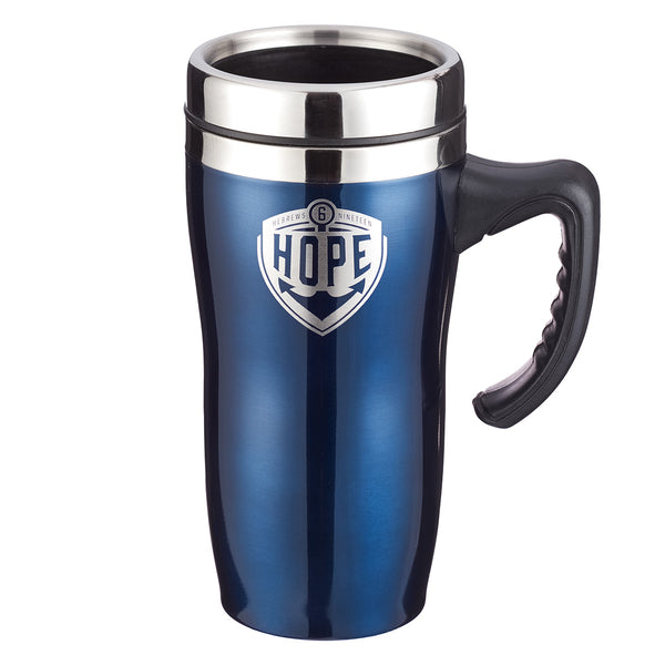 Hope Stainless Steel Travel Mug With Handle - Hebrews 6:19