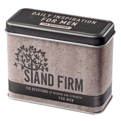 Stand Firm Devotional Cards in a Tin for Men