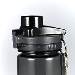 Black Plastic Water Bottle: Commit to the Lord - Proverbs 16:3