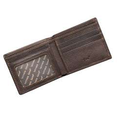 Wings Like Eagles Dark Brown Genuine Leather Wallet - Isaiah 40:31