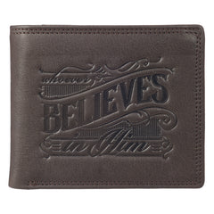 Whoever Believes - John 3:16 Leather Wallet in Tin