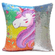 Sequins Unicorn Pillow Cover