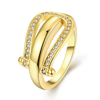 Gold Horse Shoe Ring
