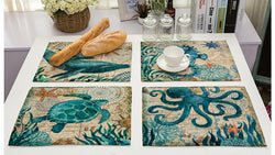 Sea Life Kitchen Table Mats